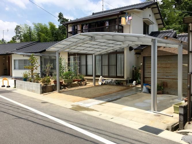 岡山市 Y様 カーポートの設置・菜園スペースのやり替えの施工実績After